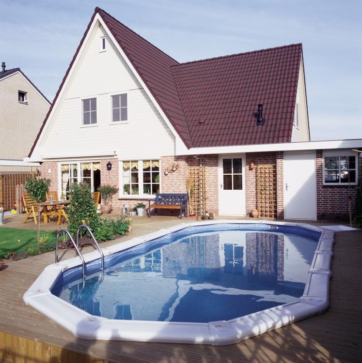 Semi Inground Pool Landscaping