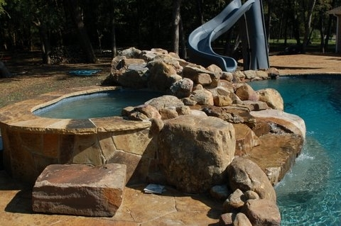 Pool and Spa with Water Slide