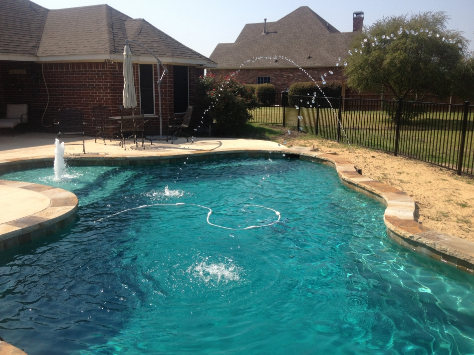 Swimming Pool With Deckjets And Bubblers