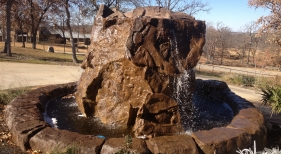 Custom Concrete Water feature