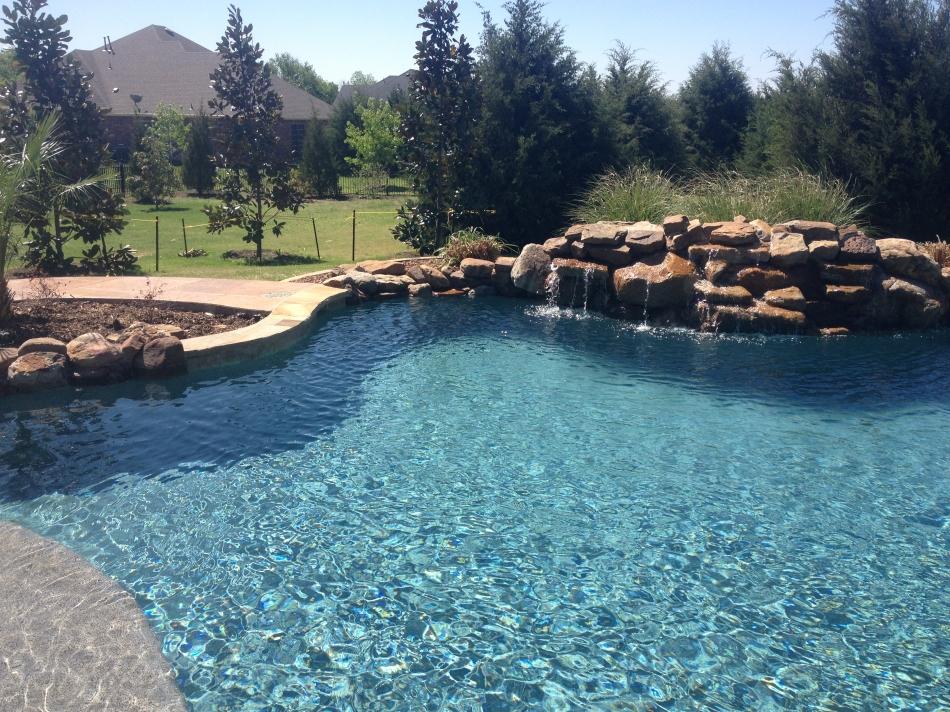Swimming Pool with Pebble Tec Blue Granite