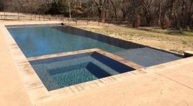 Combined Geometric Pool & Spa (2)