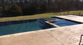 Combined Geometric Pool & Spa