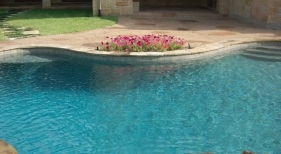 Pool with Gunite and Rock Waterfall