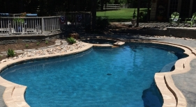Pool & Spa with Landscaping