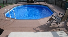Above Ground Pool Buried Composite Deck