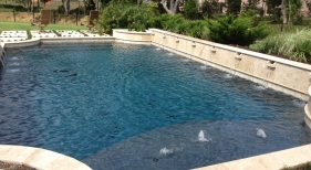 Geometric Pool with Landscape Decking