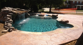 Pool Photos with Cave Grotto