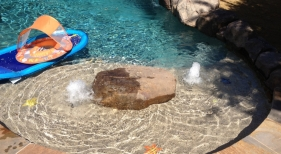 Swimming Pool with Bubbles and Toys