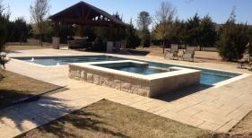 Pool & Spa with Wetedge Pearl Matrix