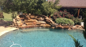Pool with Rock Waterfalls
