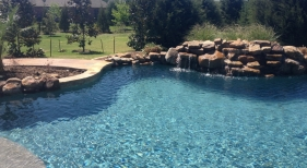Swimming Pool with Pebble Tec Blue Granite