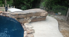 Swimming Pool with Natural Rock