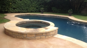 Pool & Spa with Charcoal Gray Plaster