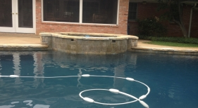 Swimming Pool with Spillways