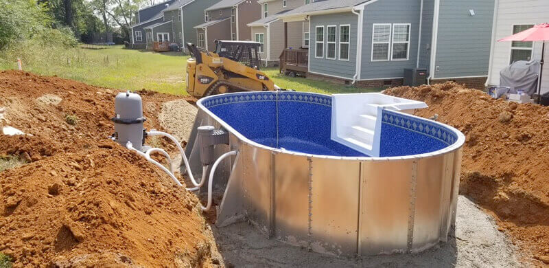 Semi-Inground Pools - Crown PoolsCrown Pools
